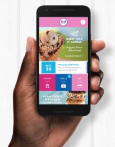 Baskin-Robbins Free Scoop of Ice Cream by Downloading App