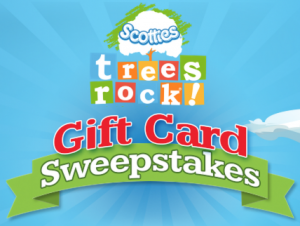 Scotties Trees Rock Gift Card Sweepstakes