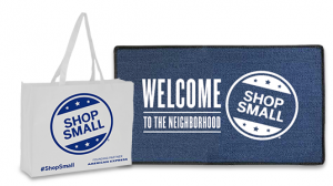 Free Shop Small Welcome Mat and 20 Reusable Shopping Bags For Small Businesses