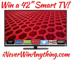 "Smart TV 4 Me Sweeps: Win a 42"" VIZIO LED Smart HDTV"