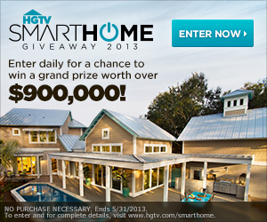 HGTV Smart Home 2013 Giveaway