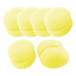Free Free Yellow Soft Sponge Ball Hair Styler Hair Care Curler Roller Tool