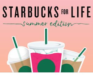 Starbucks for Life Summer Edition Instant Win