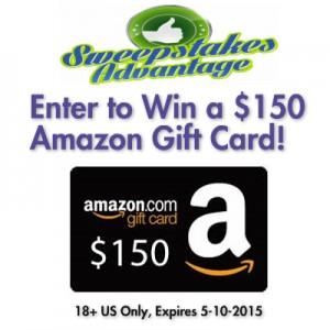 SweepstakesAdvantage $150 Amazon Gift Card Giveaway