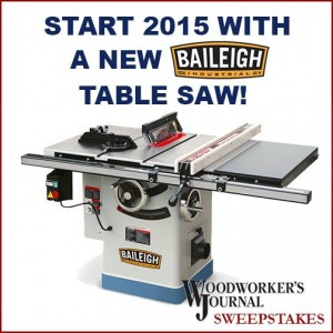 Woodworker's Journal Riving Knife Table Saw Giveaway