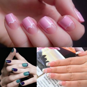 Free French, Chevron & Teardrop Nail Tip Guides Stickers