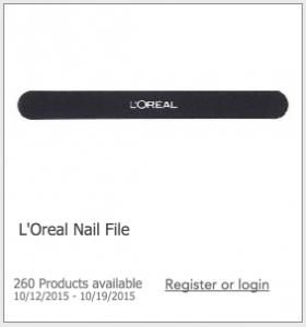 Free L'Oreal Nail File