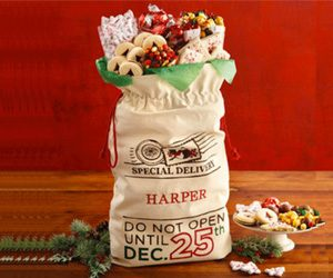 Enter To Win A Personalized Santa's Sack of Treats