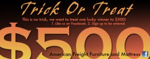 American Freight Trick Or Treat Giveaway