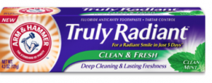 Free Sample Of Arm & Hammer Truly Radiant Clean & Fresh Toothpaste
