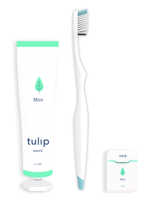 Free Tulip Toothpaste, Floss, and Toothbrush For Referring Friends