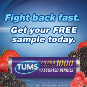 Free Sample Of Tums Ultra Maximum Strength, 12 Chewable Tablets