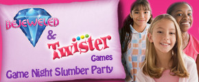 Bejeweled & Twister Game Night Slumber Party