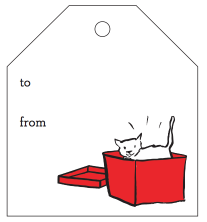 Free Printable Cat Tao Holiday Gift Tags