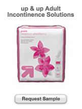 Free Sample Of up & up Adult Incontinence Solutions