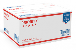 Overview: The USPS-eBay co-branded Priority Mail shipping boxes are free boxes you can use to mail items via USPS Priority Mail and Priority Mail International. The boxes -- which can be ordered only online -- are marked with both the eBay and US Postal Service logos.