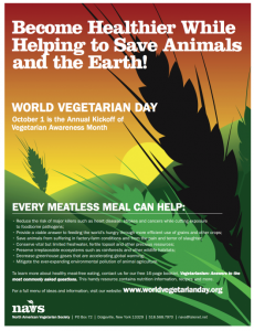 Free World Vegetarian Day Poster