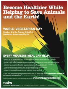Free World Vegetarian Day Poster