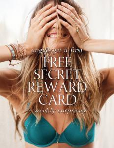 Free Victoria Secret Reward Card Worth At Least $10