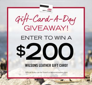 Wilsons Leather $200 Gift Card A Day Giveaway