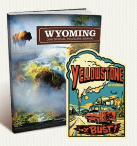 Free Wyoming Travelers Journal And Yellowstone Sticker