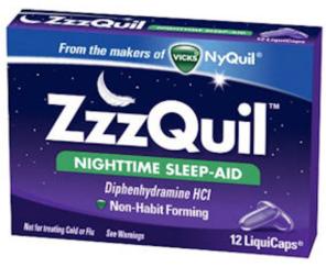Free ZzzQuil Nighttime Sleep-Aid LiquiCaps